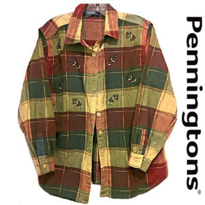 Pennington's Earthy Floral Plaid Shirt.